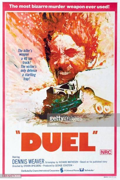 Duel poster Australian poster Dennis Weaver 1971