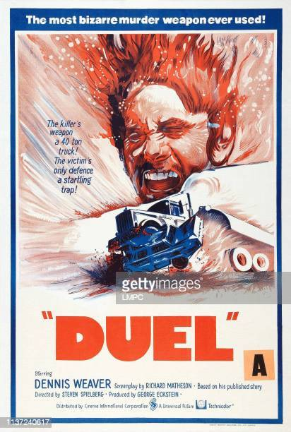 Duel poster New Zealand poster Dennis Weaver 1971
