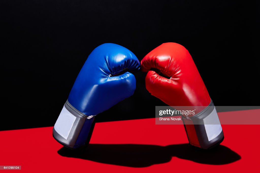 Dueling Boxing Gloves : Stock Photo