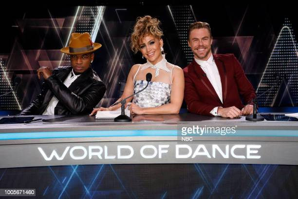 DANCE Duels Episode 209 Pictured NeYo Jennifer Lopez Derek Hough