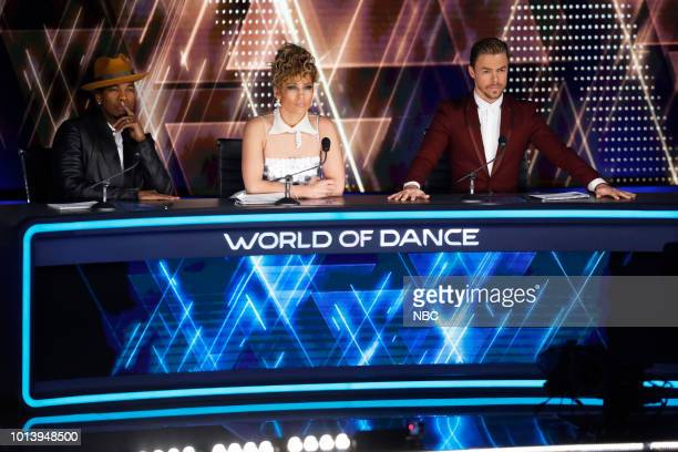 DANCE Duels Episode 211 Pictured NeYo Jennifer Lopez Derek Hough
