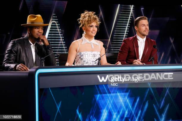 DANCE Duels Episode 212 Pictured NeYo Jennifer Lopez Derek Hough