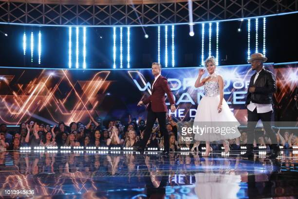 DANCE Duels Pictured Derek Hough Jennifer Lopez NeYo