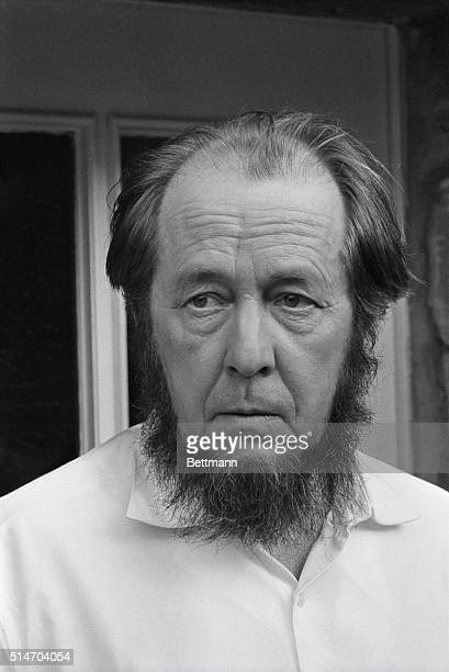 Exiled Soviet author Aleksandr I Solzhenitsyn was a moment to himself at Dueren Feb 14 2/22/1974