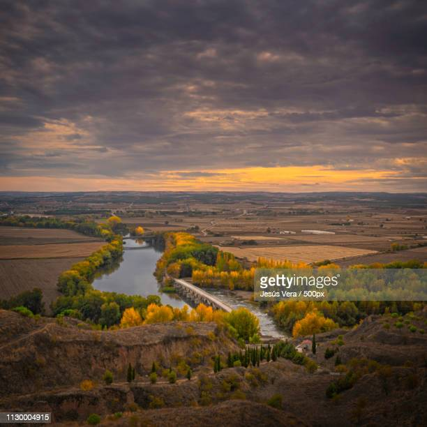 duero river seen from toro - douro valley stock photos and pictures