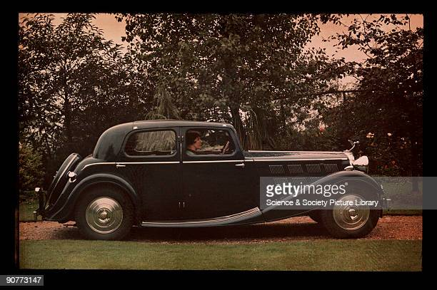 Dufaycolor colour transparency taken by an unknown photographer in about 1948 Produced between 1946 and 1952 the Bentley Mk VI was designed to be as...
