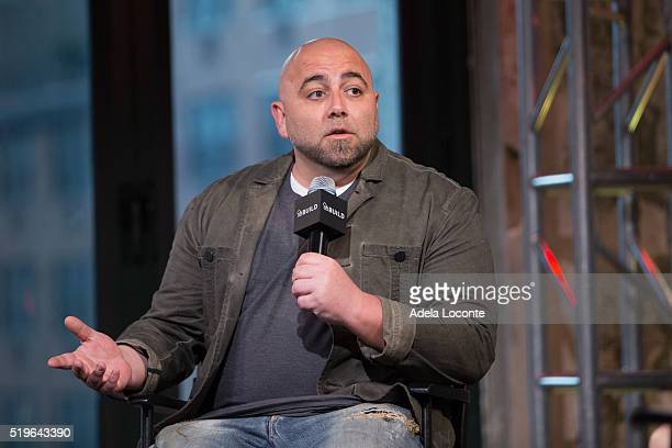 Duff Goldman discusses 'Cake Masters' AOL Studios In New York on April 7 2016 in New York City