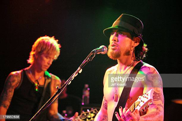 Duff McKagan and Dave Navarro performs at The Camp Freddy Concert at The Roxy on December 2 2008 in Hollywood