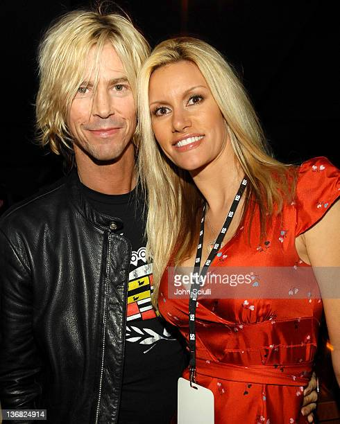 Duff McKagan and guest during 2007 Sports Illustrated Swimsuit Issue Party Inside at Pacific Design Center in Los Angeles California United States
