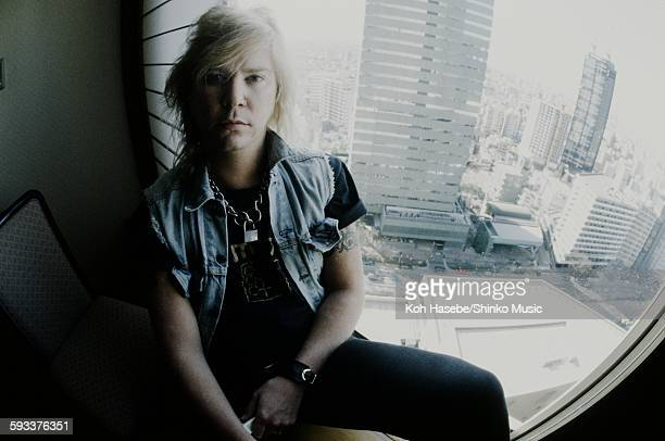Duff McKagan in a hotel room in Tokyo January 1994