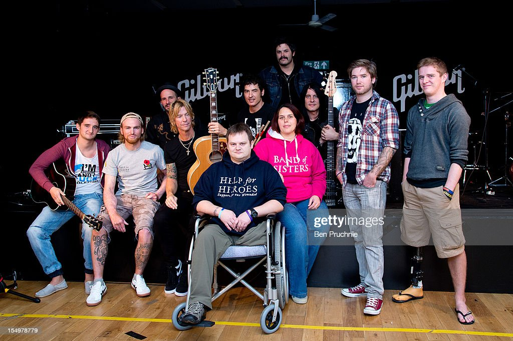 Duff McKagan meets with wounded soldiers through the Help for Heroes charity on October 29, 2012 in London, England.