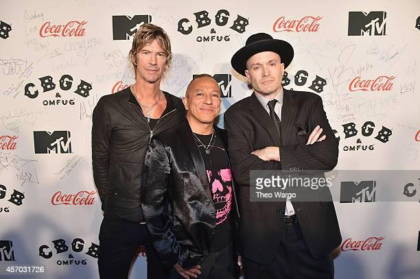Duff McKagan Michael Alago and director Drew Stone attend CBGB Music Film Festival 2014 Michael Alago Duff McKagan Film Talks on October 10 2014 in...