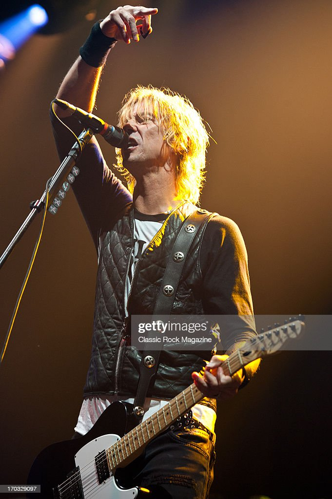 Duff McKagan of American hard rock band Loaded performing live onstage at the Wembley Arena, October 28, 2012.