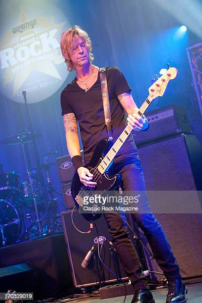 Duff McKagan of American rock band Walking Papers performing live onstage during the Classic Rock Roll of Honour at the Roundhouse November 13 2012