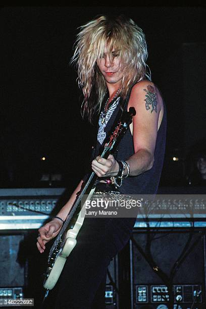 Duff McKagan of Guns N Roses performs at Sundance On October 16 1987 In Bayshore New York