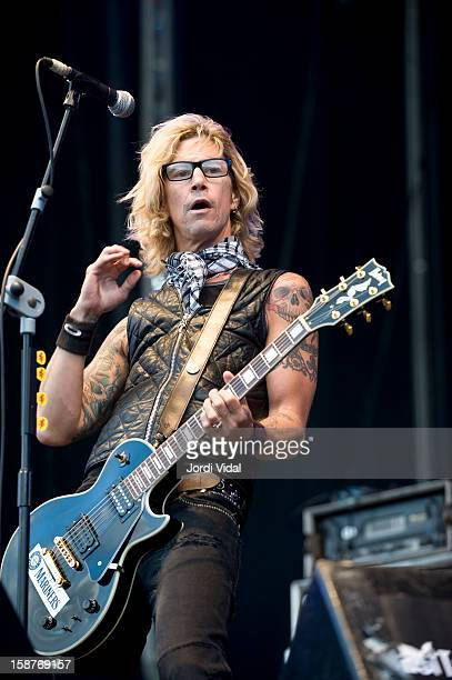 Duff McKagan of Loaded performs on stage during Azkena Rock Festival 2008 Day 3 at Recinto Mendizabala on September 6 2008 in Vitoria Spain
