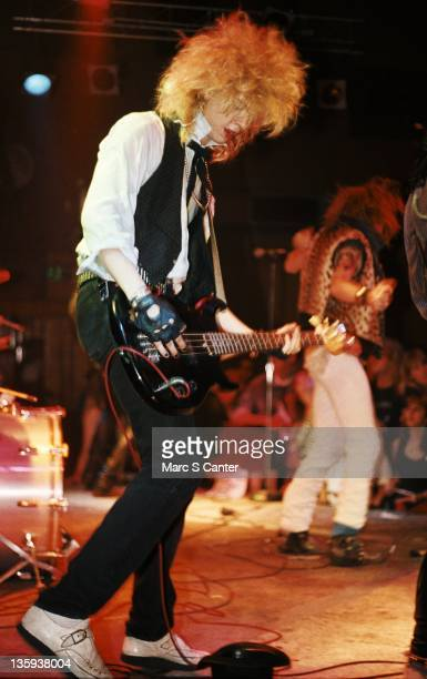 Duff McKagan of the rock band 'Guns n' Roses' performs onstage at the Troubadour where they played 'Rocket Queen' for the first time on September 20...