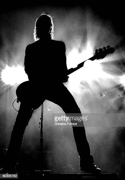 Duff McKagan of Velvet Revolver performs at Manchester Apollo on March 17 2008 in Manchester England