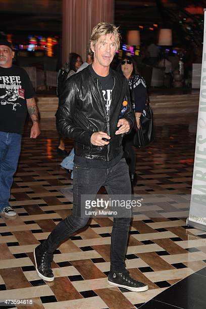 Duff McKagan signs copies of his book 'How to Be a Man at Hard Rock Cafe held at the Seminole Hard Rock Hotel Casino on May 15 2015 in Hollywood...