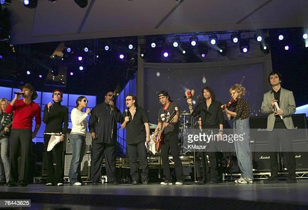 Duff McKagan, Tim McGraw, Scott Weiland of Velvet Revolver, Alicia Keys, Stevie Wonder, Bono of U2, Slash of Velvet Revolver, Steven Tyler, Alison...