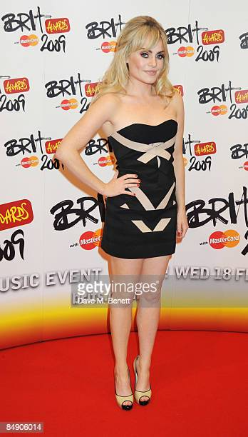 Duffy arrives at The Brit Awards 2009 at Earls Court One on February 18 2009 in London England