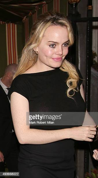 Duffy attending AnOther Magazine x Dior Party at Annabels club on October 21 2015 in London England