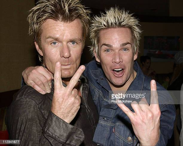 Duffy of The Cult and Sugar Ray's Mark McGrath during Billy Morrison's Birthday Party at the GQ Lounge at The GQ Lounge at the Sunset Room in...