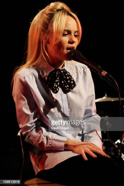 Duffy performs for a Biz session to promote her new album 'Endlessly' on December 15 2010 in London England