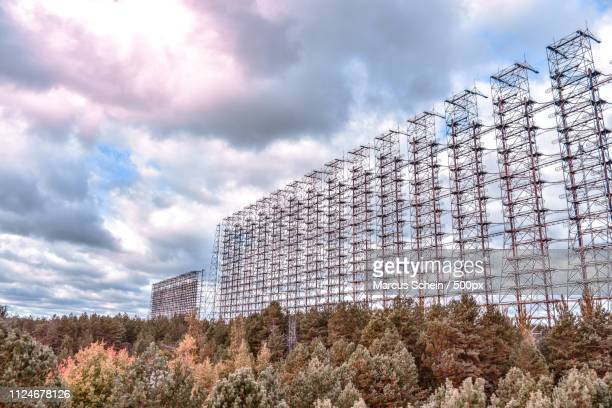 duga radar chernobyl - chernobyl stock pictures, royalty-free photos & images