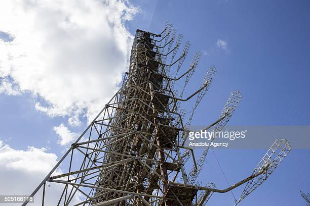 Duga radar system operated by Soviet Union is seen in Chernobyl Ukraine on April 27 2016 The Chernobyl accident occurred on 26 April 1986 at the...