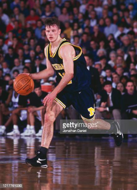 Dugan Fife, Guard for the University of Michigan Wolverines during the NCAA Big-10 Conference tournament college basketball game against the...