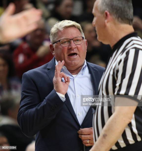 Duggar Baucom Head coach of The Citadel during the The Citadel Bulldogs versus Wofford Terriers game on January 6 at the Jerry Richardson Indoor...