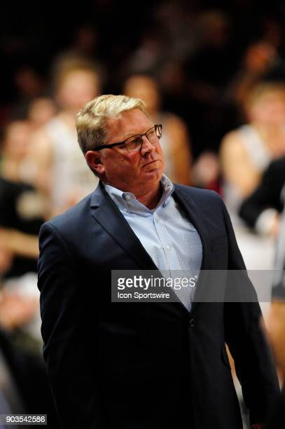 Duggar Baucom head coach The Citadel Bulldogs watches his team fall 92109 to the Wofford College Terriers Saturday January 6 at Richardson Indoor...