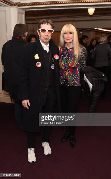 Duggie Fields and Caroline Coon attend the press night performance of Madam Butterfly part of the English National Opera's 2019/20 season at The...