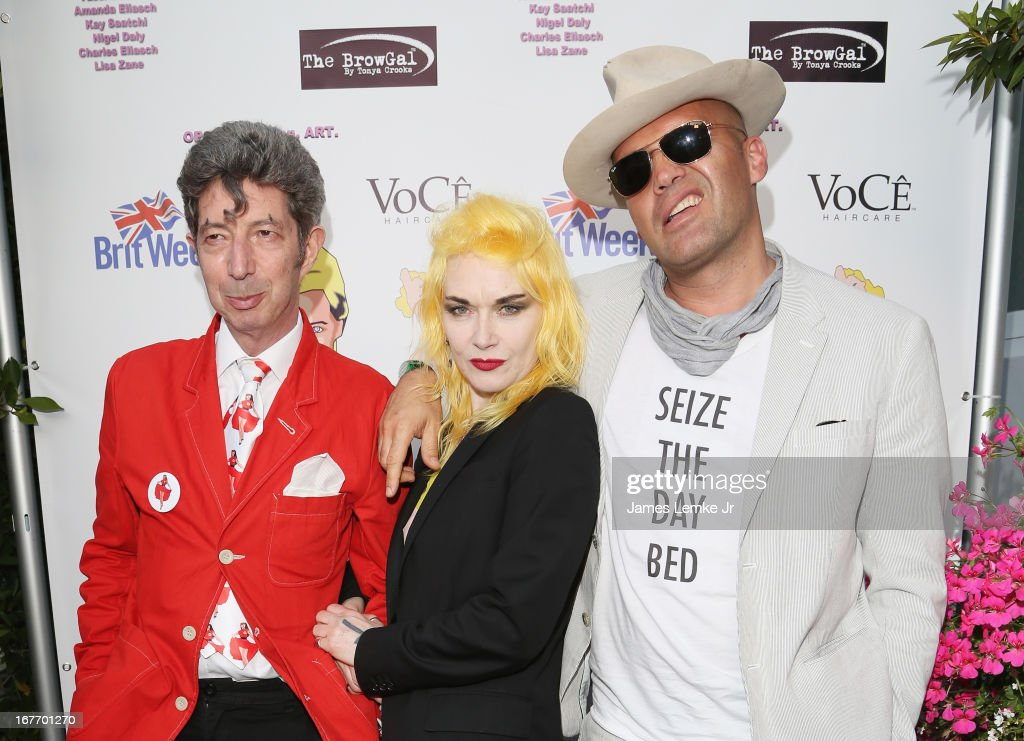 Duggie Fields, Pam Hogg and Billy Zane attend the Filmmaker and Genlux Magazine Fashion Editor Amanda Eliasch Hosts BritWeek 2013 Cocktail Party on April 27, 2013 in West Hollywood, California.