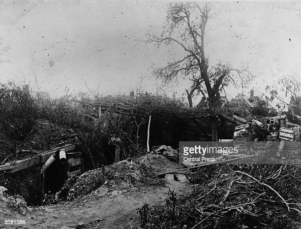 A dugout at the battlefront on the Somme