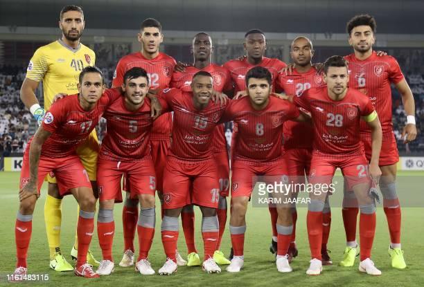 Duhail SC's Qatari goalkeeper Amine Lecomte, Duhail SC's Qatari midfielder Karim Boudiaf, Duhail SC's Qatari forward Almoez Ali, Duhail SC's Qatari...