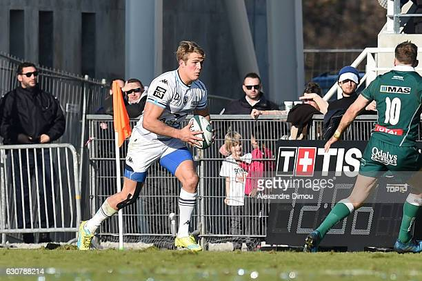 Duhan Van Der Merwe of Montpellier during the rugby Top 14 match between Pau and Montpellier at on December 31 2016 in Pau France