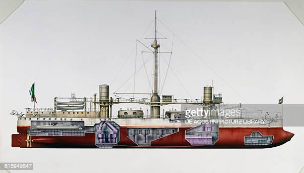 Duilio battleship Italy drawing