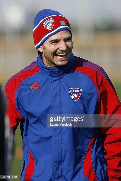 Duilio Davino, Mexican defender of FC Dallas, practices with his new team on February 12, 2008 at the Pizza Hut Park in Frisco,Texas. .