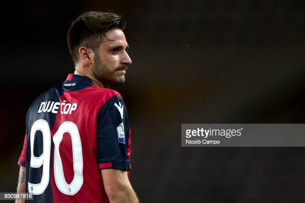 Duje Cop of Cagliari Calcio looks on during the TIM Cup football match between Cagliari Calcio and US Citta di Palermo Cagliari Calcio wins 53 over...