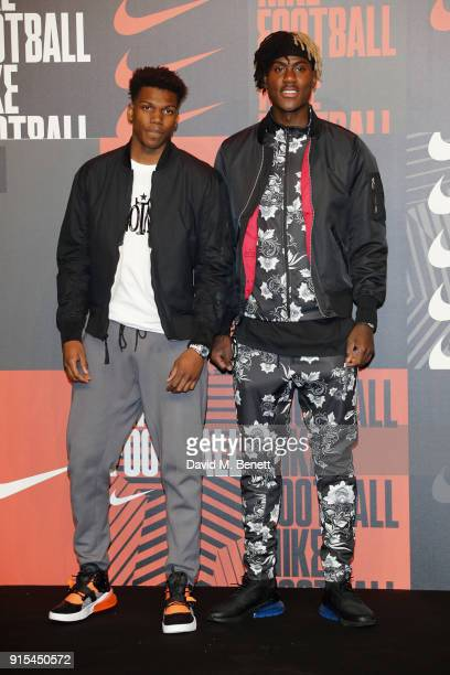 Dujon Sterling and Trevoh Chalobah attend in celebration of the 20th anniversary of Nike's most iconic football boot some of the world's best...
