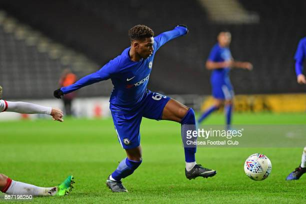 Dujon Sterling of Chelsea during the Second Round Checkatrade Trophy Match between MK Dons and Chelsea FC at StadiumMK on December 6 2017 in Milton...