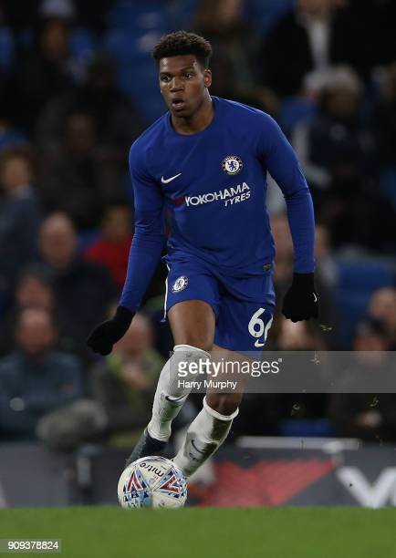 Dujon Sterling of Chelsea in action during the Checkatrade Trophy quarter final match between Chelsea U21 and Oxford United at Stamford Bridge on...