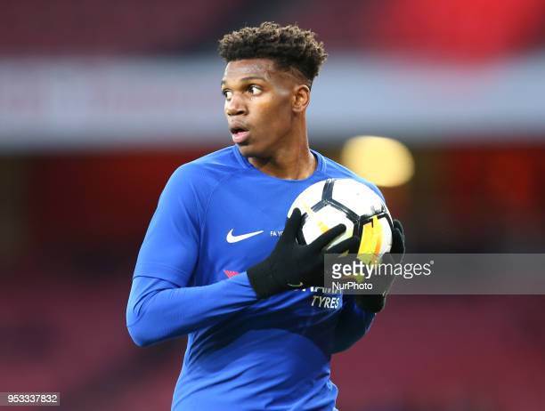 Dujon Sterling of Chelsea U18 during FA Youth Cup Final 2nd Leg match between Arsenal U18 against Chelsea U18 at Emirates stadium London England on...