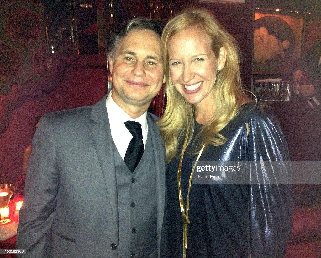 DuJour Magazine's Jason Binn and Alexandra Wilson pose circa October 2012 in New York City.