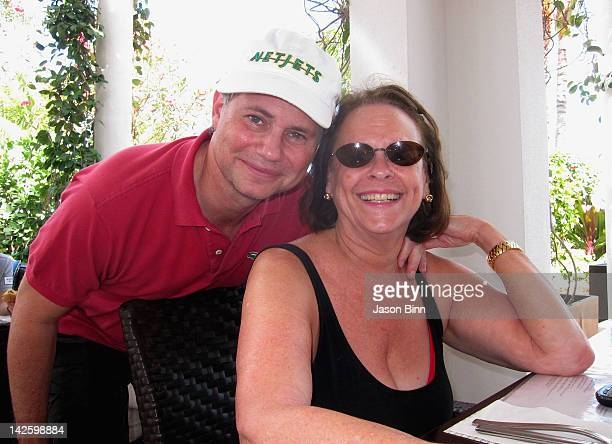 Dujour Magazine's Jason Binn and former Time Inc CEO and Chairman Ann Moore pose circa February 2012 in Southbeach Florida