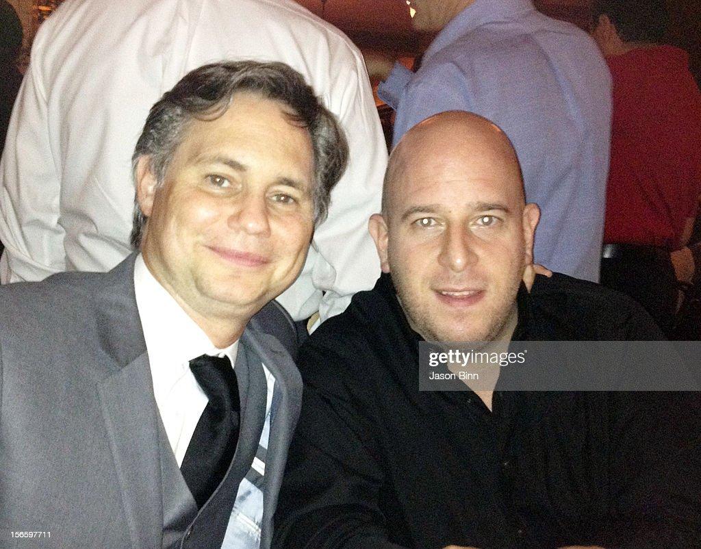 DuJour Magazine's Jason Binn and Noah Tepperberg of Strategic Group pose circa October 2012 in New York City.