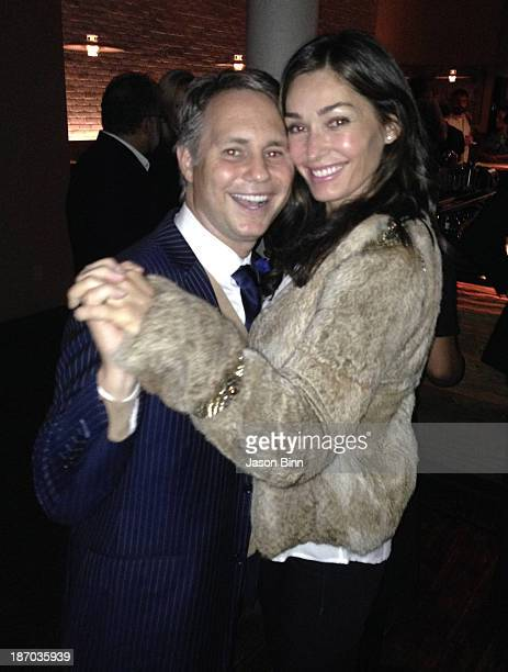 DuJour Media Founder Jason Binn and actress Dara Tomanovich pose circa October 2013 in New York City