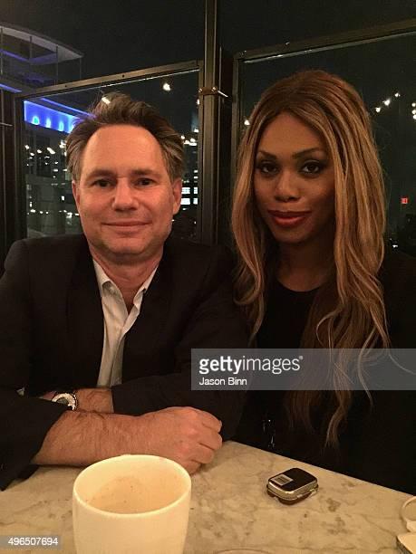 DuJour Media Founder Jason Binn and actress Laverne Cox circa August 2015 in New York City